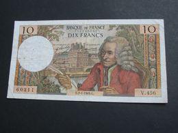 10 Dix Francs VOLTAIRE 2-1-1969   **** EN ACHAT IMMEDIAT **** - 1962-1997 ''Francs''