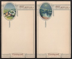 PHOSCAO - ART NOUVEAU - JUGENDSTIL / 1920's - 2 MENUS VIERGES (ref 5934) - Menus