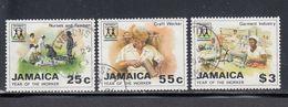 Jamaica, Scott #702-704, Used, Labor Year, Issued 1988 - Jamaique (1962-...)