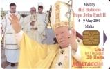 Nº 208 TARJETA DE MALTA DEL PAPA JUAN PABLO II - Malta