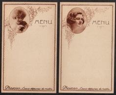 PHOSCAO - ART NOUVEAU - JUGENDSTIL / 1920's - 2 MENUS VIERGES (ref 5933) - Menus