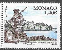 MONACO, 2020, MNH, EUROPA, ANCIENT POSTAL ROUTES,1v - Europa-CEPT
