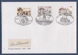 Enveloppe Premier Jour, Georges Simenon (1903-1989), France 2911 Suisse 1463 Belgique 2579 Le 15.10.1994 - 1990-1999