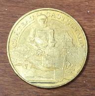 24 CHÂTEAU DE CASTELNAUD MEDAILLE TOURISTIQUE MONNAIE DE PARIS 2011 JETON MEDALS COINS TOKENS - Monnaie De Paris