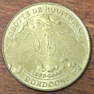 24 GROTTE DE ROUFFIGNAC 1956 - 2006 MEDAILLE TOURISTIQUE MONNAIE DE PARIS 2006 JETON MEDALS COINS TOKENS - Monnaie De Paris