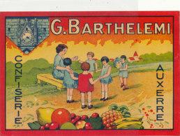 AN 1106 / ETIQUETTE   -  CONFISERIE  G. BARTHELEMI    AUXERRE - Altri
