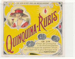 AN 1114 / ETIQUETTE   -  QUINQUINA RUBIS - Altri
