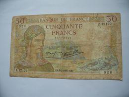 50 Francs - Cérès - 1940   **** EN ACHAT IMMEDIAT **** - 1871-1952 Antichi Franchi Circolanti Nel XX Secolo