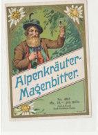 AN 1115 / ETIQUETTE   -   ALPENKRAUTER  MAGENBITTER - Altri