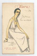 RARE PROGRAMME THEATRE L'OEUVRE SUPERBE GRAVURE SIGNÉE VANDONGEN   L INTRUSE    1921 - Programme