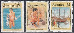 Jamaica, Scott #717-719, Used, Discovery Of America, Issued 1989 - Jamaica (1962-...)