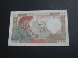 50 Cinquante Francs - Jacques Coeur - 26-49-1940   **** EN ACHAT IMMEDIAT **** - 1871-1952 Anciens Francs Circulés Au XXème