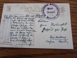 5 Cartes Postales En Feldpost De BRUSSEL /BRUSSEL 2 : Cachets Divers Et Différents (1915-16) - Weltkrieg 1914-18