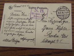 5 Cartes Postales En Feldpost De NAMUR : Cachets Divers Et Différents (1914-15) - Weltkrieg 1914-18