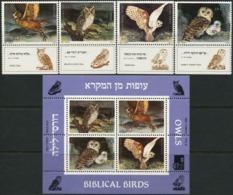 ISRAEL 1987 Biblical Birds Owls Animals Fauna MNH - Hiboux & Chouettes