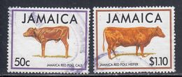 Jamaica, Scott #819-820, Used, Cattle, Issued 1994 - Jamaique (1962-...)