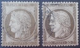 R1286/153 - CERES N°56 Brun Clair Et Brun Foncé - CàD : PARIS - 1871-1875 Cérès