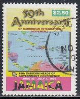 Jamaica, Scott #865A, Used, 50th Anniversary Of Caribbean Integration, Issued 1997 - Jamaica (1962-...)