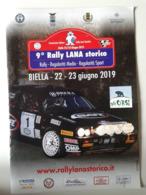 Alt1086 Mappa Prove Speciali Rally Lana Storico 2019 Biella, Lancia Delta, Porsche 911, Ferrari Albo D'oro - Automobile - F1
