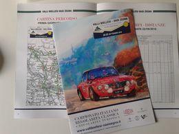 Alt1087 Mappa Prove Speciali Rally Valli Biellesi 2018 Biella, Regolarità Auto Storiche Lancia Fulvia, Albo D'oro - Automobile - F1