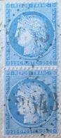 R1286/157 - CERES (PAIRE) N°60A Sur Support - GC 3643 : SAINT GERMAIN L'HERM (Puy De Dôme) ➤ INDICE 6 - 1871-1875 Cérès