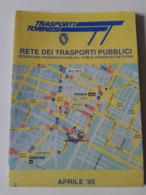 Alt1088 Rete Trasporti Pubblici Bus Tram Torino Carte Reseau Bus Route Map Transport Network 1995 - Cartes