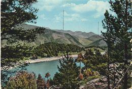 Carte Postale. Andorre. Lac D'Engolasters Avec Les Antennes De Radio Andorre. Circulé. 1963. Timbre. Cachet Postal. - Andorra
