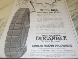 ANCIENNE PUBLICITE PNEU DUCASBLE PARIS TOKIO 1925 - Transportation