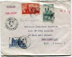 FRANCE LETTRE PAR AVION DEPART PARIS 30-1-47 R. DES CAPUCINES POUR LES ETATS-UNIS - 1927-1959 Briefe & Dokumente