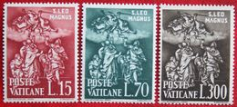 SEE PICTURES 1500.Todestag Papst Leo I 1961 Mi 366-368 Yv 319-321 POSTFRIS / MNH / ** VATICANO VATICAN VATICAAN - Neufs