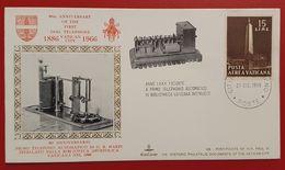 VATICANO VATICAN FIRST DIAL TELEPHONE 1886-1966 VATICAN LIBRARY BIBLIOTECA VATICANA - Storia Postale