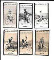 Z835 - CHROMOS PHOTOGRAPHIQUE FELIX POTIN - TOM LINTON - JAAP EDEN - HURET - MAJORJOHNSON - RIVIERRE - MICHAEL - Cycling