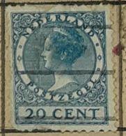 NETHERLANDS/HOLLAND-QUEEN WILHELMINA -USED STAMP - 1891-1948 (Wilhelmine)