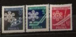 Pologne 1956 / Yvert N°852-854 / ** - 1944-.... Republik
