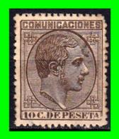 ALFONSO XII  SELLO COMUNICACIONES AÑO 1878 - Usados