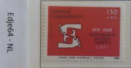 Turkije 1969 50 Jaar ILO - 1921-... República