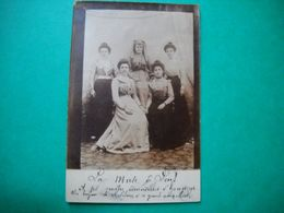 """Carte Photo """" La Muse De Lens """" Et Ses 4 Demoiselles D'honneur . - Lens"""