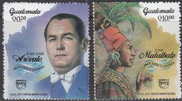 Guatemala 2014,  UPAEP Famous People, MNH Stamps Set - Guatemala