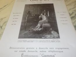 ANCIENNE PUBLICITE GABY MORLAY ET GAMMA 1925 - Radio & TSF
