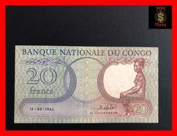 CONGO 20 Francs  15.4.1962   P. 4   VF - Democratische Republiek Congo & Zaire