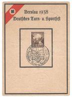 Deutsches Reich 1938 , Breslau Sportfest Sonderstempelkarte - Duitsland