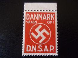 Revenue WW2 Germany Stamp Denmark DNSAP Propaganda MNH - Alemania