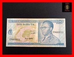 CONGO 10 Makuta  21.1.1970   P. 9   VF - Democratische Republiek Congo & Zaire
