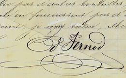 1876 AUTOGRAPHE PERNOD COUVET SUISSE ABSINTHE EXCEPTIONNELLE SIGNATURE DU  FONDATEUR «Edouard PERNOD » - Schweiz