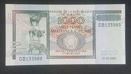 RS - Burundi 1000 Francs Banknote 2009 UNC #CB33989 - Burundi