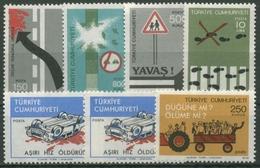 Türkei 1977 Verkehr: Traktor, Verkehrszeichen, Zebrastreifen 2435/40 Postfrisch - Nuevos