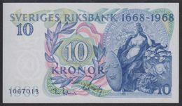 "Sweden 10 Kronor 1968 P56 Commemorative Issue ""300 Years Sveriges Riksbank""UNC - Suède"