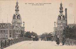 NANTES  Les Tours Lefèvre - Utile Et L'Avenue Carnot ( Chapeau 591 ) ( Voir Description ) - Nantes