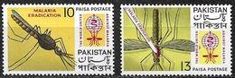 PAKISTAN: 1962 PALUDISMO  - MI 163/164 ** MNH - Pakistan