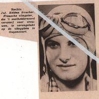 LUCHTVAART.1934. JUF. HÉLÈNE BOUCHER FRANSCHE VLIEGSTER VERONGELUKT OP HET VLIEGPLEIN GUYANCOURT - Vecchi Documenti
